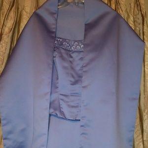 Vintage Mori Lee Purple Formal Dress with Wrap
